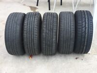 5 Tyres With Rims 195/55 R15