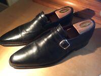 Pascal Morabito black leather monk buckle men formal shoes