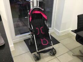 Summer 3Dlite convenience stroller hibiscus pink