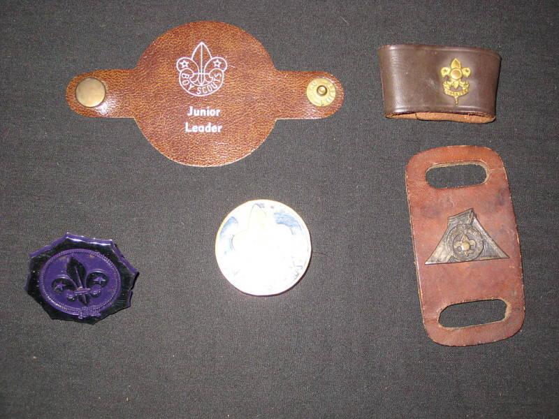 5 diff Worldwide Boy Scout Neckerchief slides      c4#1