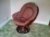 Pair of swivel cane chairs