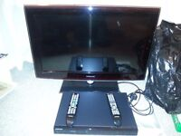 """Samsung LCD 32""""TV and Samsung DVD Recorder/Player"""