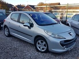 2007 07 REG PEUGEOT 207 1.4 5 DOOR 9 MONTHS MOT P-X WELCOME