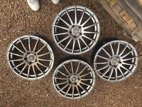 Multi spoke 5 stud multifit currently off vectra b alloys (no tyres)
