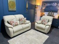 Sold Cream suite. 2 seater sofa and chair. Cream fabric