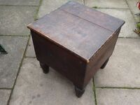 old wooden dovetailed commode / planter