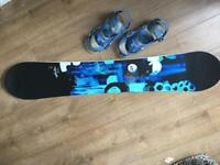 Burtons ladies feather snowboard & Burton bindings