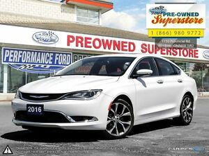 2016 Chrysler 200 C***LEATHER/SUNROOF/NAV***