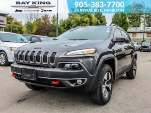 """2018 Jeep Cherokee TRAILHAWK, BACKUP CAM, 8.4"""" DISPLAY, LEATHER"""