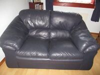 Free for uplifting - 2 x 2 seater blue leather sofas