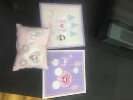 Next canvases and matching cushion