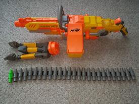 NERF N-STRIKE GUNS (CAN SELL INDIVIDUALLY) BARRICADE, HAVOK, RAMPAGE, RECON, VEST, JOLT etc