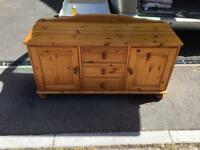 Solid pine short side unit / tv stand