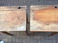 2 x Esavian vintage flip top desks