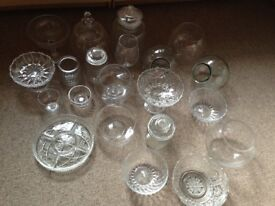 Glassware ideal for wedding sweet table
