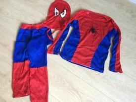 Spiderman fancy dress 3 part costume