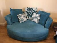 2 x 2 seater sofa's with matching footstool