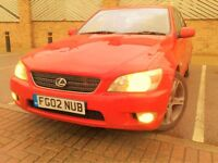 Lexus Is200 SE Red, FSH, 76000 Miles Lady Owner Hpi Clear