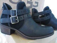 Ugg Black Leather Boots Size Uk 7.5 NEW (UGG Australia)