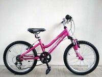 "(2723) 20"" Lightweight Aluminium RIDGEBACK HARMONY GIRLS MOUNTAIN BIKE BICYCLE; Age: 6-9, 120-135cm"