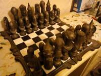 Hand painted chess set