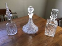 Cut Glass Decanters - Sherry, Port, Whisky