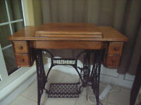 WANTED a treadle sewing machine table