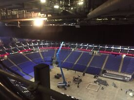 Event crew wanted in London - immediate staff work for self employed labourers, carpenters, mechanic