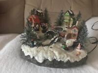Fibre Optic Christmas Village