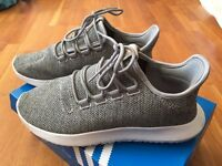 ALMOST NEW Adidas Originals Tubular Shadow (Grey/White; Size 7)