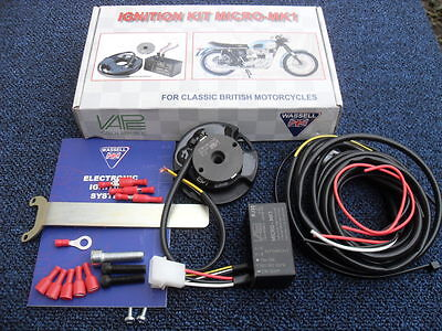 BSA,TRIUMPH ,NORTON TWINS AND SINGLE CYLINDER NEW ELECTRONIC IGNITION KIT