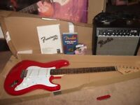 new fender guitar strat with amp all in box great gift