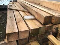 🚜Wooden Posts * 2.35m X 85mm X 85mm * £6.50