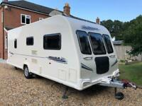 Bailey Pegasus 524 Caravan 4 Berth Fixed bed 2010 with Motor Mover