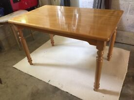 Breakfast or dining table, solid beech