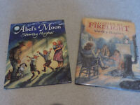 2 x First Edition Hardback books by Shirley Hughes – Stories By Firelight & Abel's Moon.
