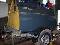 Diesel bowser Bunded bowser with pump