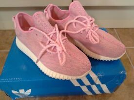Pink Adidas Yeezy Boost 350 Trainers UK Size 4.5