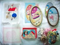 Selection of Needlework Twilleys Beatrix Potter Animals Embroidery Sets inclu. frame and wool