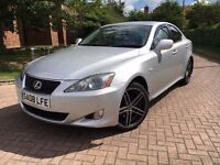 """Lexus IS220d Manual Sat-Nav Cruise-Con Fsh Leather Low Mileage DVD 18"""" Alloys Fully Loaded"""