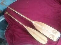 2 X Canoe paddles