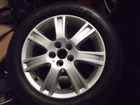 "ROVER 75 / MGZT MK2 FACELIFT 7 SPOKE 16"" ALLOY WHEELS GOOD CONDITION"