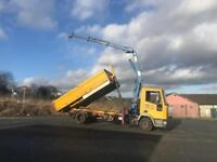 Iveco cargo hiab tipper lorry 10 ton