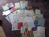 CARDMAKING JOBLOT books, cds, papers, diecut bits, die cut sentiments, card blanks and envelopes