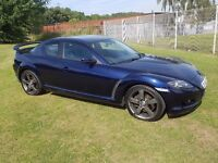 2009 (58) PLATE MAZDA RX-8 231 PS 2.6 MOT JULY 2017 BLACK LEATHER RACING SPOILER DRIVES BRILLIANT