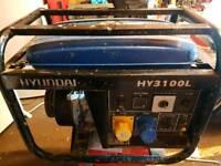 Hyundai HY3100L Generator 240v & 120v output.