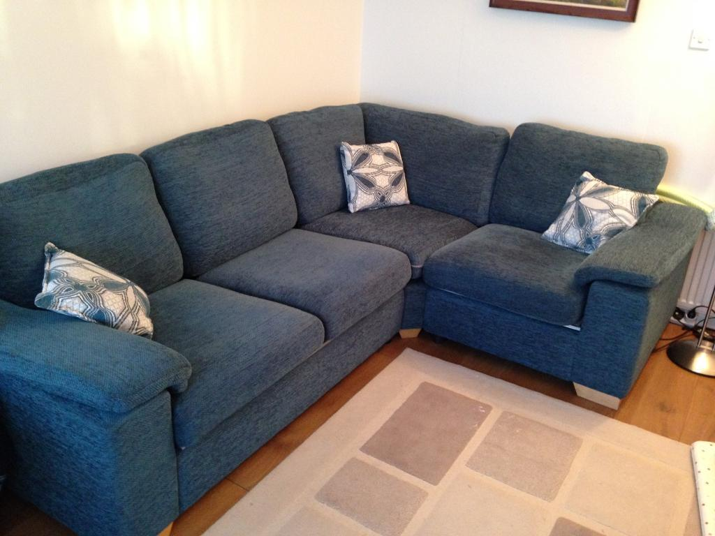 Dfs Corner Sofa And Swivel Chair Like New Teal Offers Will Be Considered In Southside