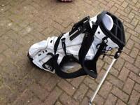 Adidas white stand golf bag