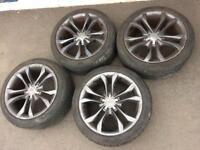 Audi VW T4 T5 alloy wheels 18 inch alloys +tyres s line genuine