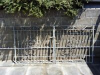 Heavy galvanised steel gates